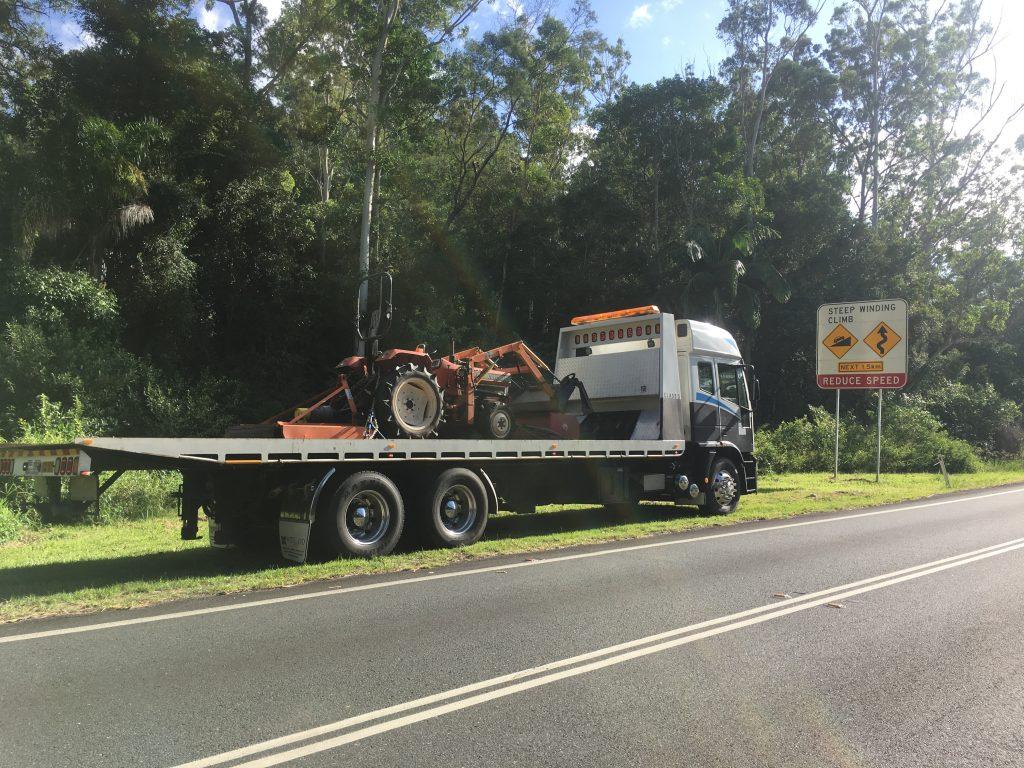 Transportation of tractor.